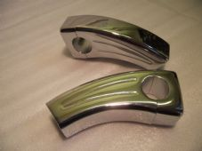 Pair chromed alloy 3 1/2 inch handlebar risers for 1in 25mm bars bar risers